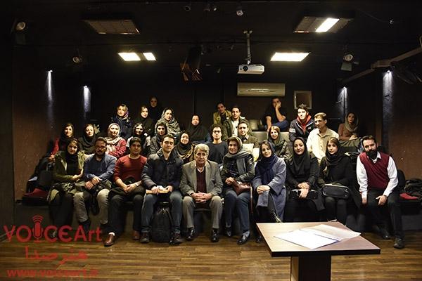 """تصاویری از دوره """"رموز و فنون گویندگی"""" استاد بهروز رضوی ترم زمستان ۹۷"""
